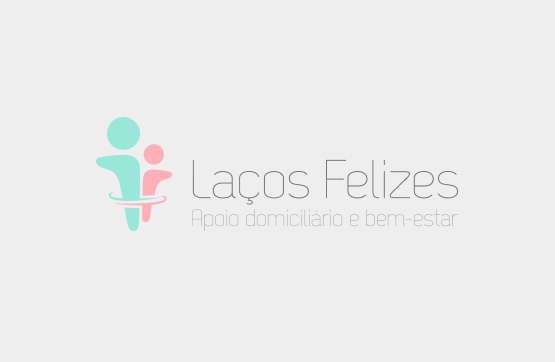 bwebsite e logotipo para laços felizes