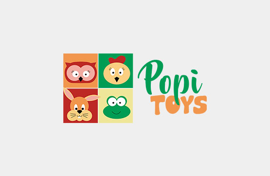 imagem corporativa e website para popi toys