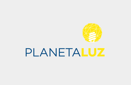 website e logotipo para Planeta Luz