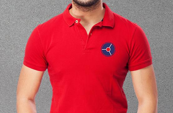 aplicação em vestuário de logotipo