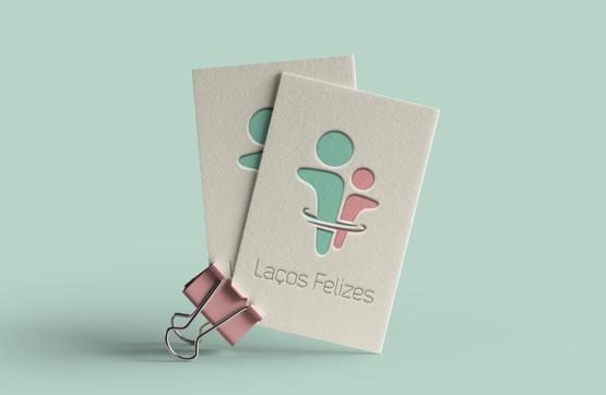 cartões de visita e consulta para laços felizes