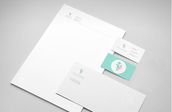 papel timbrado e cartao de visita