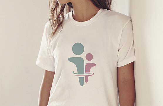 logotipo aplicado em tshirt