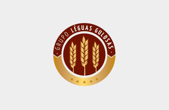 logotipo desenvolvido para leguas gulosas