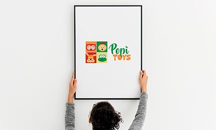 logotipo desenvolvido para popy toys