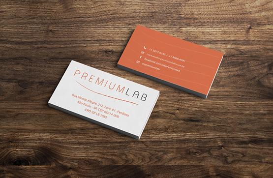 cartões de visita para premiumlab