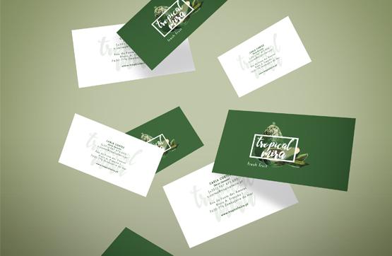 cartões de visita para Tropical Mira