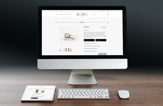 webdesign de site goro