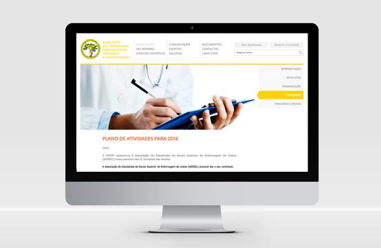 homepage do website