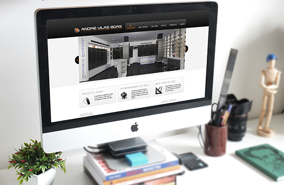 website desenvolvido para andre vilas boas