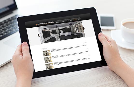website em tablet