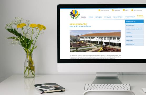 website desenvolvido para CBE Porto