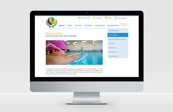 webdesign desenvolvido para CBE