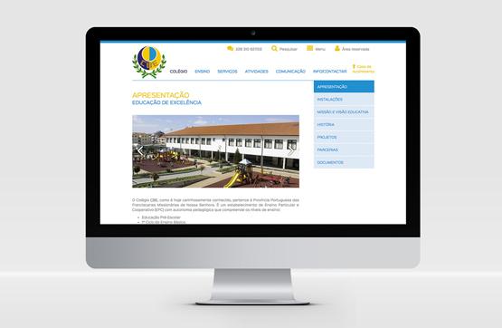 website aplicado ao CBE Porto