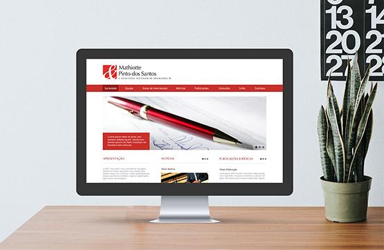 website desenvolvido para MPS advogados