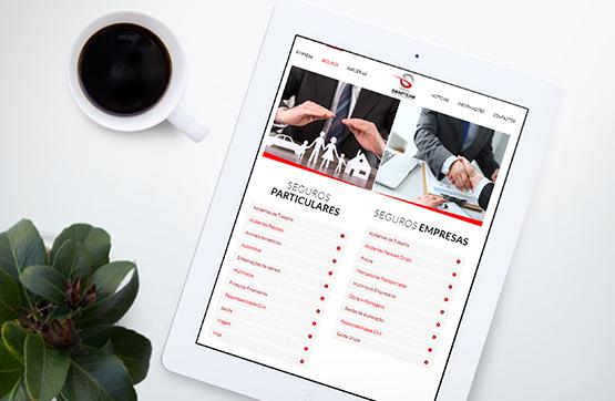 serviços em website
