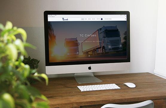 website para empresa de transportes