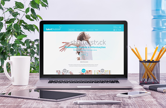 website desenvolvido para talent bubble