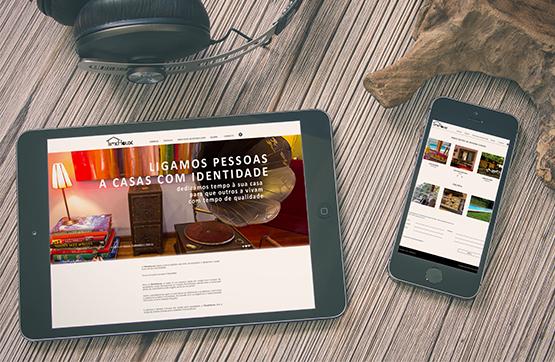 website desenvolvido para Time House