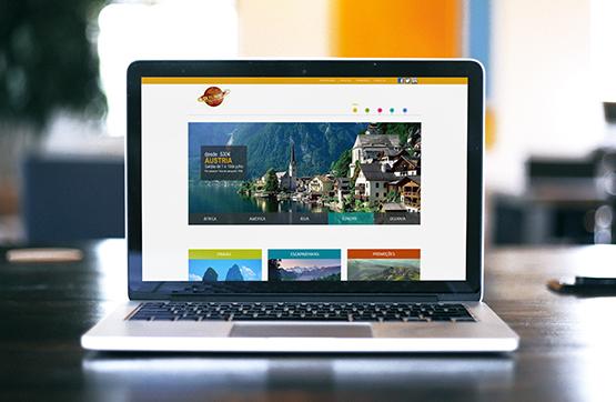 website desenvolvido para volta mundo